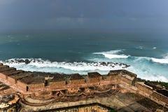 Замок El Morro, Сан Жуан, Пуерто Рико Стоковая Фотография
