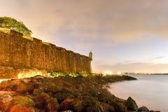 Замок El Morro, Сан Жуан, Пуерто Рико Стоковое Изображение RF