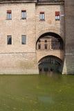 замок ferrara средневековый Стоковое Изображение