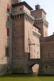 замок ferrara средневековый Стоковая Фотография RF