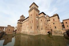 замок ferrara средневековый Стоковое Фото