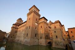 Замок ferrara Estense, Италия Стоковые Изображения RF