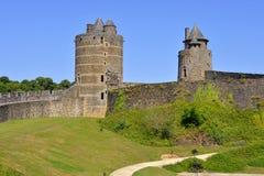 Замок Fougeres в Франции Стоковое Изображение RF