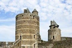 Замок Fougeres Стоковое Изображение RF
