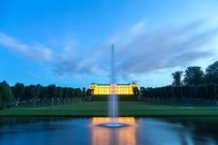 Замок Frederiksberg в Копенгагене к ноча Стоковые Изображения RF