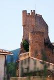 Замок Frias (двенадцат-пятнадцатое столетие) Провинция Бургоса стоковая фотография rf