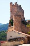 Замок Frias (двенадцат-пятнадцатое столетие) burgos Испания стоковое фото rf