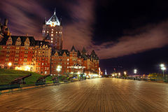 Замок Frontenac в Квебеке - Канаде Стоковое Изображение