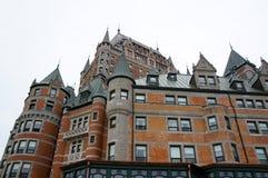 Замок Frontenac замка гостиницы в Квебеке Стоковые Изображения