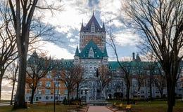 Замок Frontenac - Квебек (город), Квебек, Канада Стоковое Фото