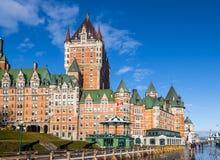 Замок Frontenac - Квебек (город), Квебек, Канада Стоковые Фотографии RF