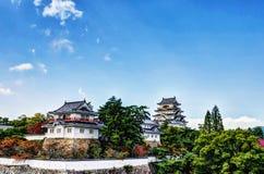 Замок Fukuyama (южная сторона Ninomaru) Стоковые Фотографии RF
