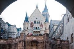 замок fussen neuschwanstein Германии стоковая фотография
