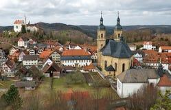 Замок Gössweinstein и купола Стоковая Фотография