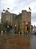 Замок Ghent, Бельгии стоковые фотографии rf