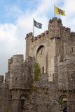 замок ghent Бельгии средневековый Стоковые Фотографии RF