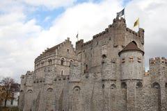 замок ghent Бельгии средневековый Стоковая Фотография RF