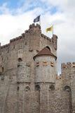замок ghent Бельгии средневековый Стоковое фото RF