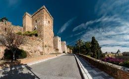 Замок Gibralfaro Стоковая Фотография