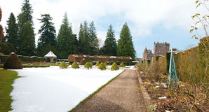 Замок Glamis в зиме Стоковое фото RF