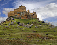 замок gormaz soria Испания Стоковое Фото