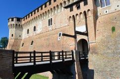 Замок Gradara Pesaro и Урбино Италия Стоковое Изображение RF
