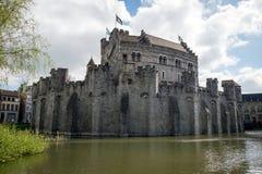Замок Gravensteen в Генте, Бельгии Стоковое фото RF
