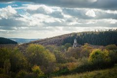 Замок Grimburg в Германии Стоковая Фотография