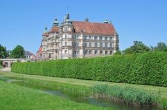 Замок Guestrow, район озера Mecklenburg, Германия Стоковые Изображения RF