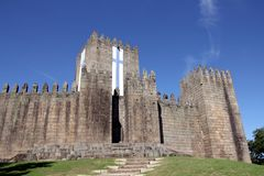 Замок Guimaraes в Португалии стоковое фото rf