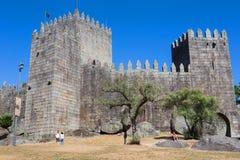 замок guimaraes Стоковое Изображение