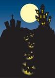 замок halloween Стоковые Изображения