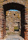 Замок Hammershus острова Борнхольма - Дании Стоковые Изображения RF