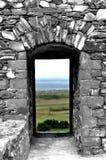 Замок Harlech, Уэльс стоковые изображения