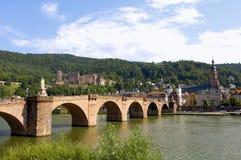 замок heidelberg моста старый Стоковое Изображение