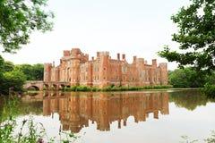 Замок Herstmonceux кирпича в XV веке Англии восточном Сассекс стоковые изображения
