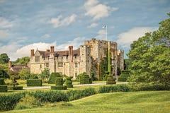 Замок Hever в Кенте, Англии Стоковые Изображения RF