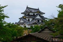 Замок Hikone в Shiga, Японии Стоковое Изображение RF