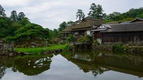Замок Hikone в Shiga, Японии Стоковые Фотографии RF