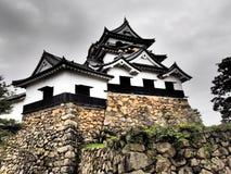 Замок Hikone в Shiga, Японии Стоковая Фотография