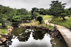 Замок Hikone в Shiga, Японии Стоковое фото RF