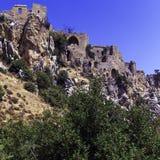 Замок Hilarion святой, Kyrenia, Кипр Стоковое Изображение RF