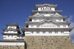 Замок Himeji всемирного наследия ЮНЕСКО, префектура Hyogo, Япония стоковые изображения rf