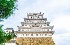 Замок Himeji в префектуре Hyogo, Японии, всемирном наследии ЮНЕСКО Стоковое Изображение RF