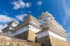 Замок Himeji в Himeji с голубым небом Стоковые Фотографии RF