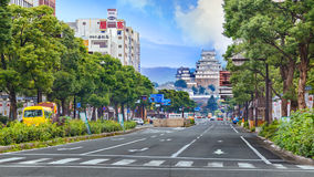 Замок Himeji в Himeji, Японии Стоковые Фотографии RF