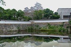 Замок Himeji, кино Голливуда, последние самураи был снят здесь Стоковые Фотографии RF