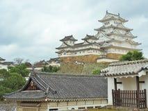 Замок Himeji расположенный в Himeji, префектуре Hyogo, Японии Стоковые Фотографии RF