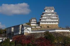 Замок Himeji с предпосылкой голубого неба в Himeji, Японии Стоковые Фото