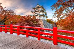 Замок Hirosaski, Япония Стоковая Фотография RF